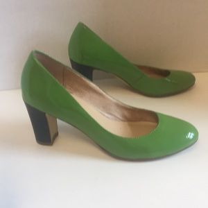 Kate spade New York green blue color block pumps